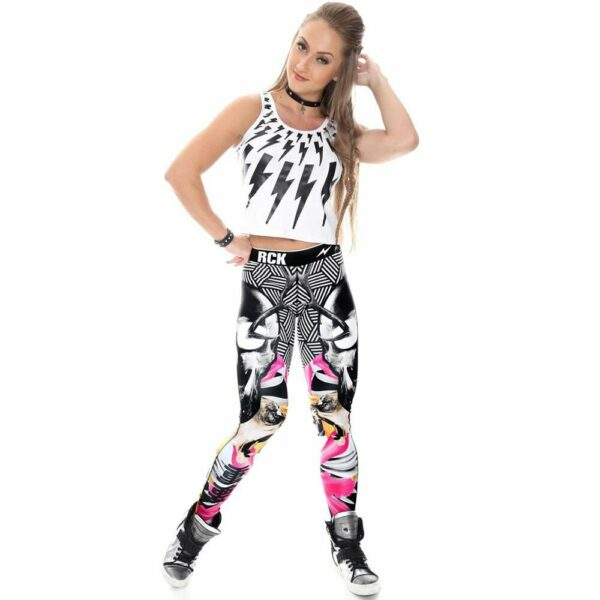 Legging Fitness Dark Origami Rock Code