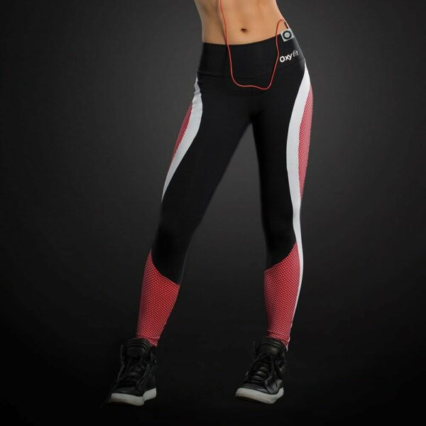 Legging Fitness Wire Com Lateral Pink E Telinha Oxyfit