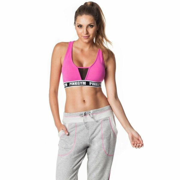Top Fitness Rosa Com Tule Pink Gym